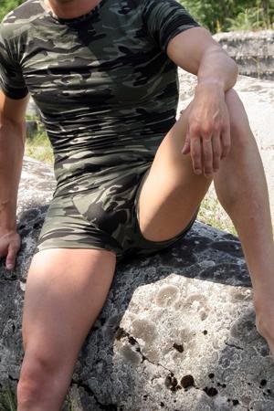 tee shirt et boxer militaire