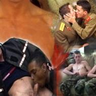 Millitaire gay et soldat du feu sexy
